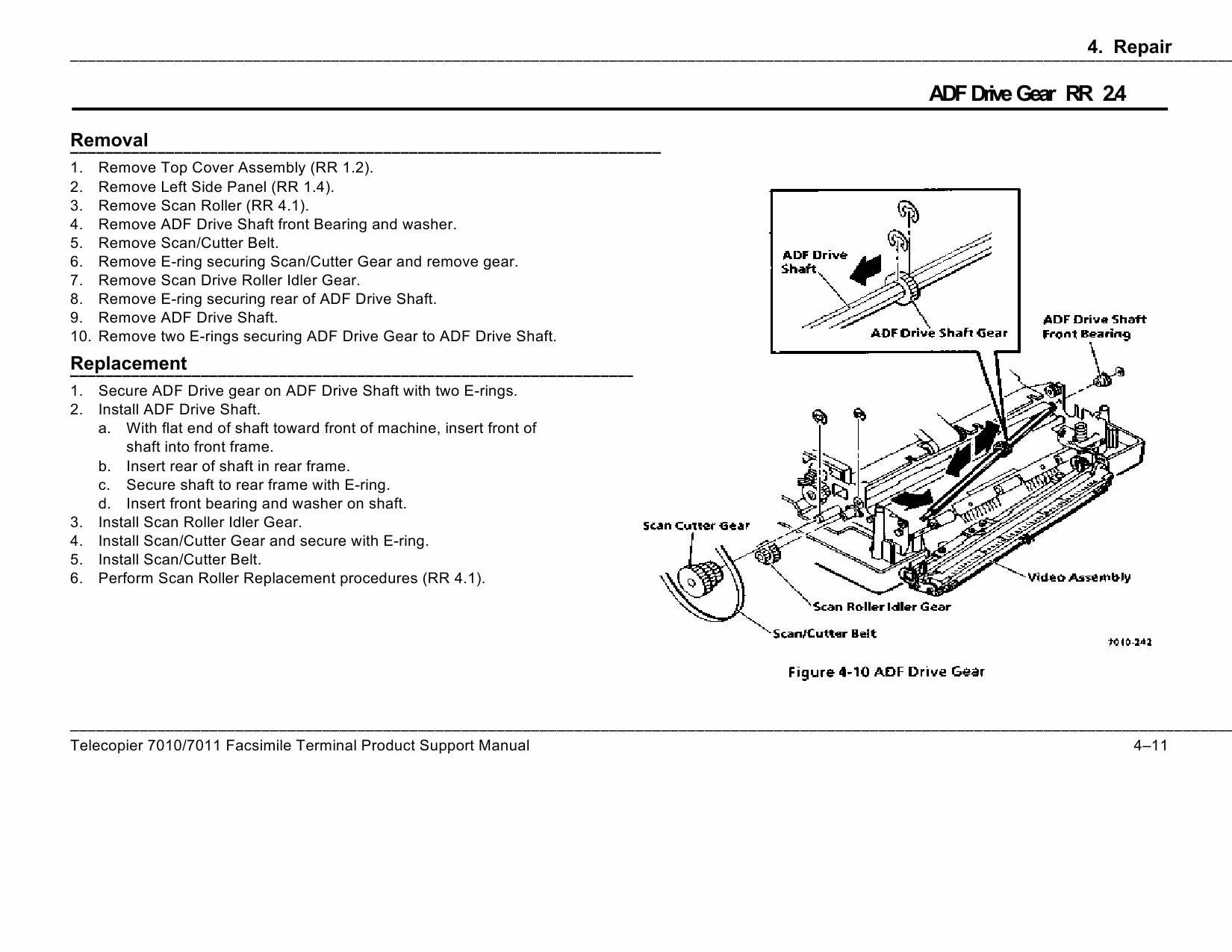 Xerox Printer 7010 7011 Fax Parts List and Service Manual-4